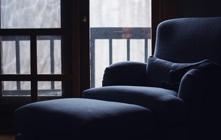 blur armchair and ottoman