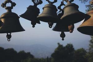 Brass bells hanging