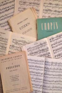 Chopin sheet music